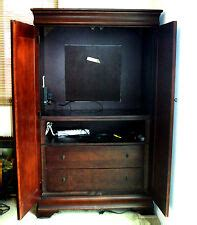cherry tv armoire cherry entertainment tv armoires stands for sale ebay