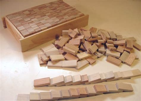 making wooden domino blocks