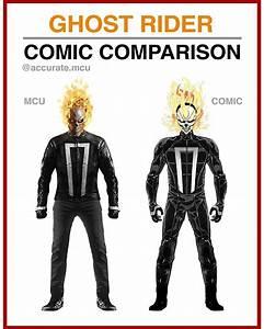 GHOST RIDER - COMIC COMPARISON • Imo the mcu's Ghost rider ...