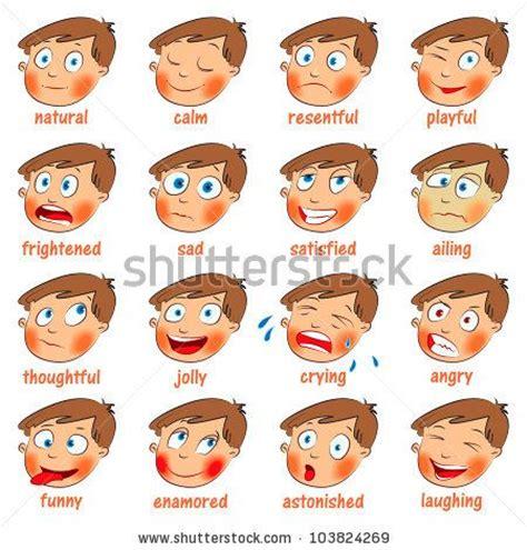 www emotion de emotion faces emotions expressions set calm resentful