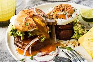 Mexican Eggs Benedict with Sweet Potatoes, Guacamole and ...