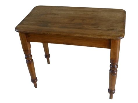 Small Antique Victorian Pine Kitchen Side Table 261376