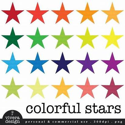 Clip Stars Colorful Painting