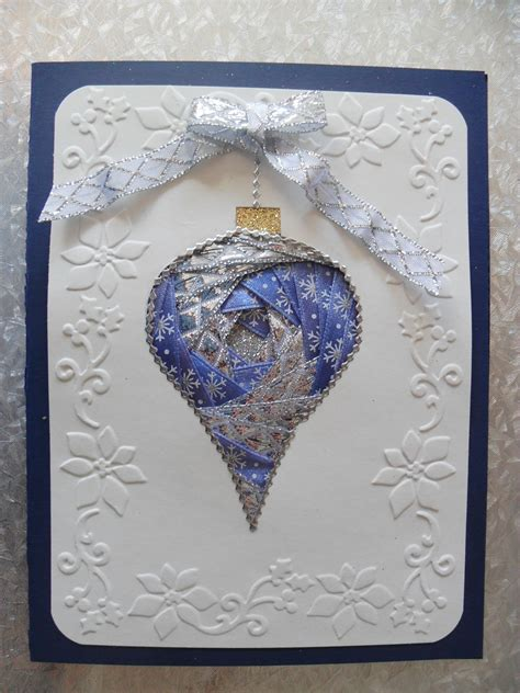 silver blue iris folding ornament card making carte