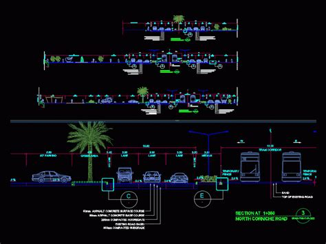 road section dwg section  autocad designs cad