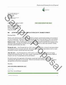 professional cleaning services proposal With cleaning proposal letter