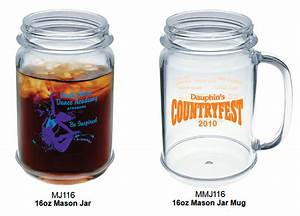 Custom plastic mason jar mugs these 16 oz custom mason for Custom cosmetic jars