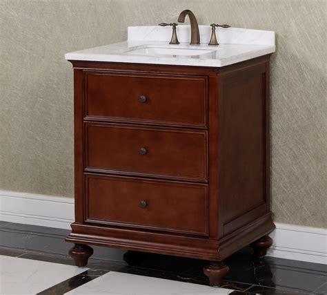 30 Bathroom Vanity by 30 Inch Single Sink Bathroom Vanity In Brown Uvlfwb19716a30