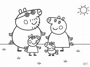Peppa Pigu002639s Family Coloring Page Free Printable Coloring