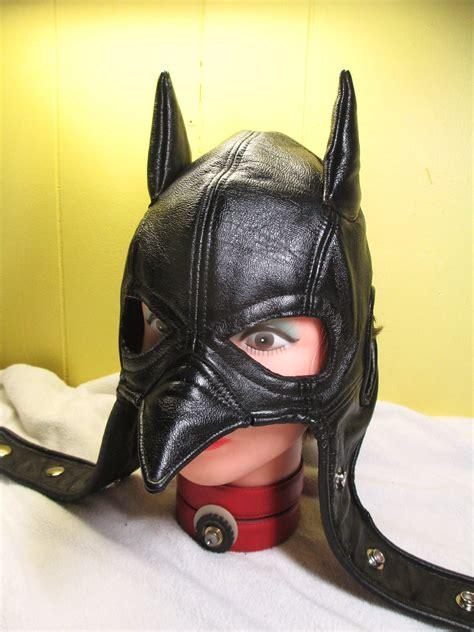 custom leather batman cowl  leatherhead  deviantart