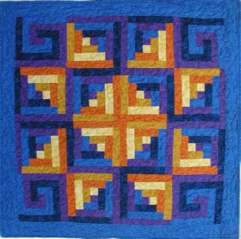 Log Cabin Quilt Patterns Scrappy Log Cabin By Rkcreations Quilting Pattern