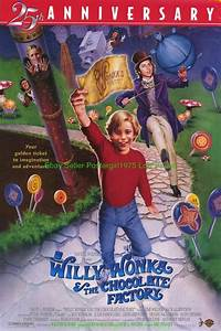 WILLY WONKA AND THE CHOCOLATE FACTORY MOVIE POSTER 25TH   eBay