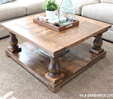 baluster coffee table it s a grandville diy balustrade coffee table 1456