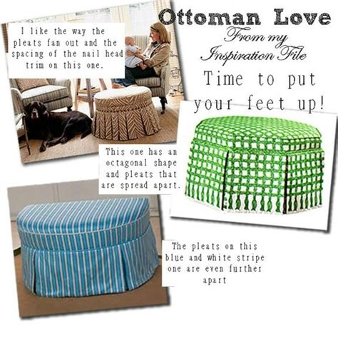Fabric Covered Ottoman by Diy Fabric Covered Ottoman