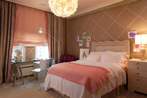 Pink And Brown Girl's Room-contemporary-girl's Room