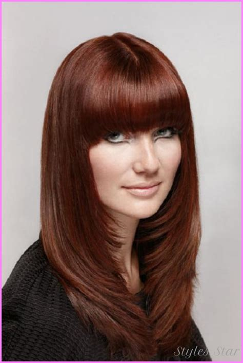 long hair layered haircuts for round faces stylesstar com