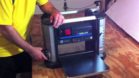 delta  portable thickness planer   review youtube