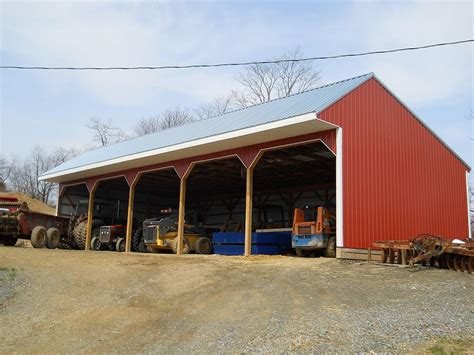 3 Sided Pole Barn With