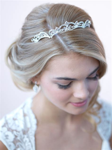 Wedding Tiaras by Modern Scrolling Wedding Tiara Bridal Crown Usabride