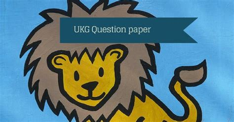 ukg question paper