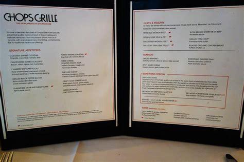 sea deck restaurant menu new dining room menus on oasis of the seas