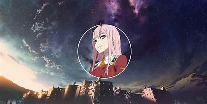 Zero Darling Franxx Anime Wallpapers Pink Sky