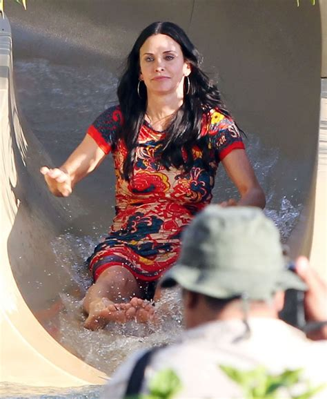 Courteney Cox Water Slide Upskirt Beautiful Girl