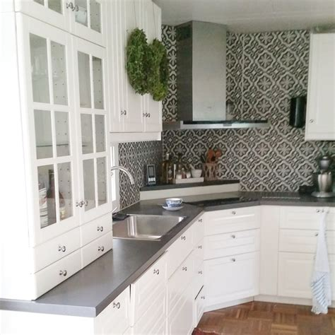 ikea kitchen backsplash ikea bodbyn search the white cabinets with