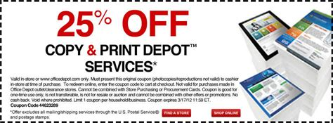 Office Depot Coupons Print Services by Office Supplies Furniture Technology At Office Depot