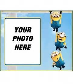 photo frame of three minions photofunny