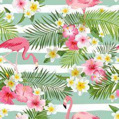flamingo art print tropical art decor nursery art pink