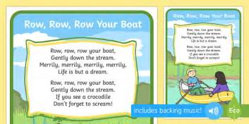 Row Row Row Your Boat Lyrics And Actions by Row Row Your Boat Song Rhymes Display Nursery Rhyme