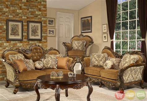 formal sofa loveseat living room set antique style