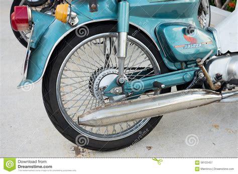 Motorcycle Rear Wheel, Tire, Brake Stock Photo