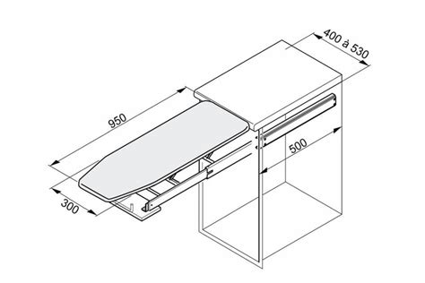 table de cuisine avec tiroir table à repasser escamotable pour meuble bas accessoires