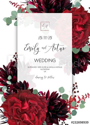 wedding invite invitation save  date card design red