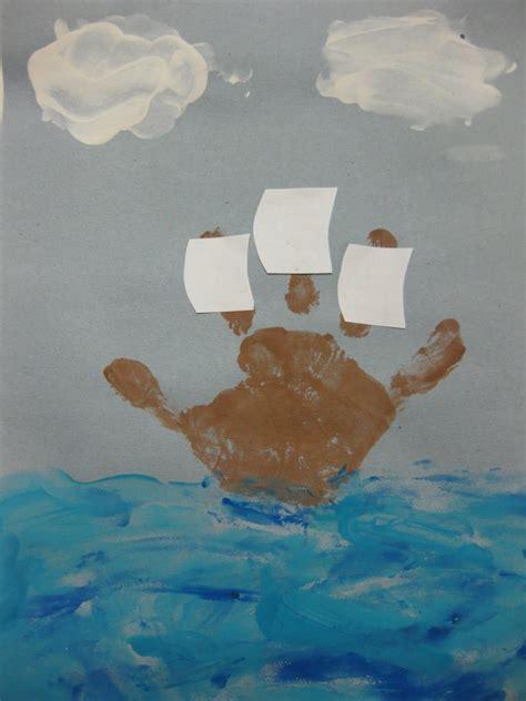 ww mayflower handprint boat cherry blossom midtown 554   Handprint Mayflower 768x1024