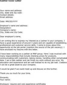 sle cover letter for cashier position best template