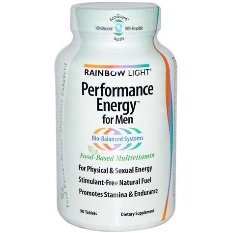 rainbow light men s multivitamin rainbow light performance energy for men food based