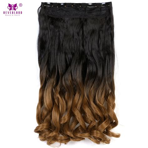 Aimei 24 Ombre Wavy Natural Hair Clip Extensions One