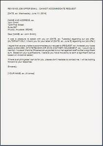 Salary Counter Offer Letter Example Salary Negotiation Rejection Letter