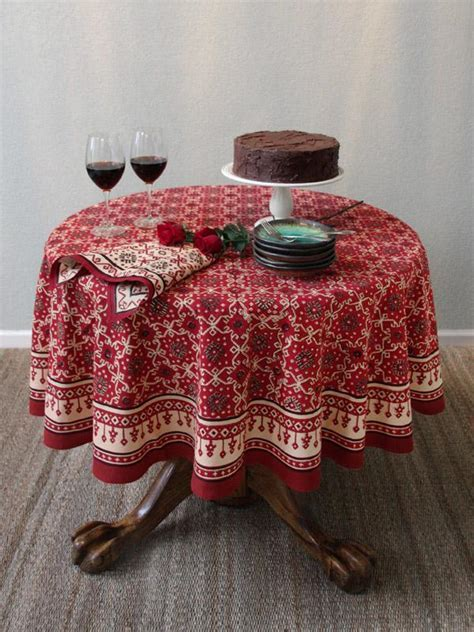 Red Tablecloth, Holiday Tablecloth, Decorative Tablecloth