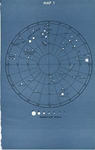 Vintage Astronomy Star Constellation Map 1 and 2 - 1946 ...