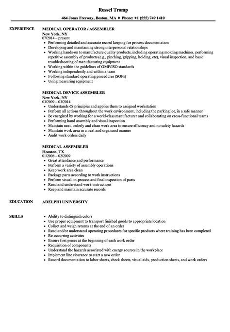 Medical Assembler Resume Samples  Velvet Jobs. List Of Skills For A Resume. Where Can I Post My Resume To Find A Job. Resume Form. College Resume Samples. Resumes For Teens. Technical Proficiency Resume Examples. Computer Science Internship Resume Objective. Resume For A Model