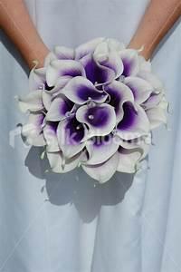 Purple Calla Lily Wedding Bouquet | Car Interior Design