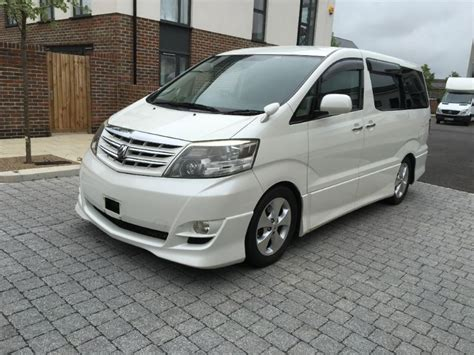 mpv toyota used pearl white toyota alphard for sale essex