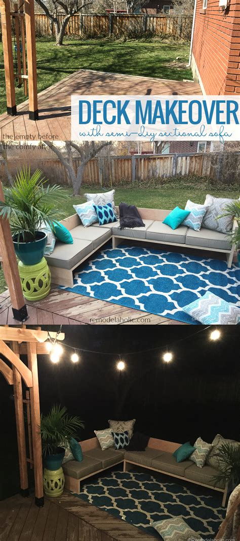 remodelaholic outdoor sectional sofa reveal