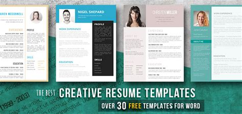 Free Creative Resume by Creative Resume Templates Get The You Deserve