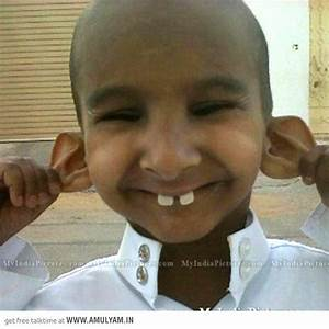 Funny Indian Child Boy Face