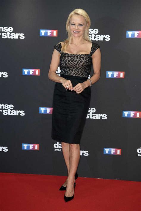 Pamela Anderson At The Danse Avec Les Stars Photocall At